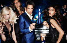 Movie Character Vodka Ads - The Latest CIROC Campaign Stars Ben Stiller as the Iconic Zoolander