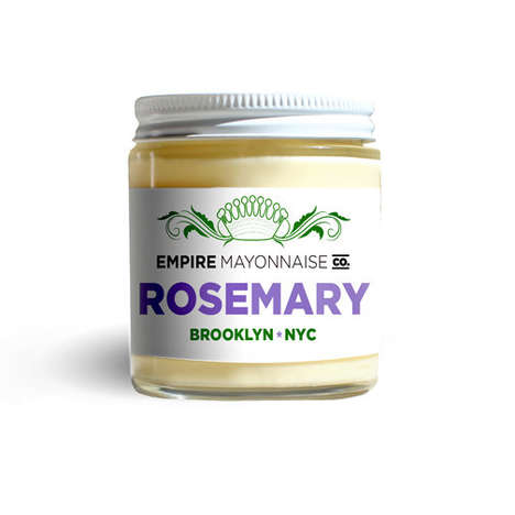 Rosemary Mayonnaise Spreads - Empire Mayo's Flavored Mayonnaise is Infused with Rosemary Salt