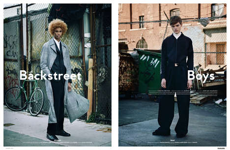 Menswear Alleyway Editorials - The Ones 2 Watch 'Backstreet Boys' Feature Highlights Urban Apparel