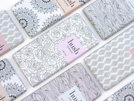 Meditative Chocolate Bar Branding - Hush Chocolate Boasts Relaxing Patterns in Pastel Hues