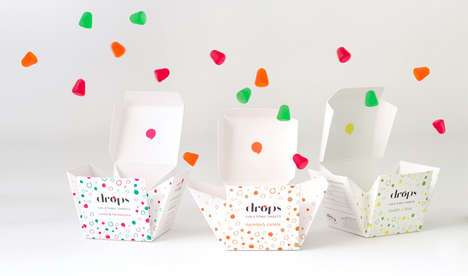 Cocktail-Flavored Gum Drops - Drops Gin & Tonic Sweets Boast a Blossoming Package Design