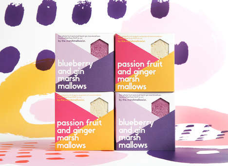 Vibrant Marshmallow Branding - The Marshmallowist Has Packaging That Shows Off Its Sweets