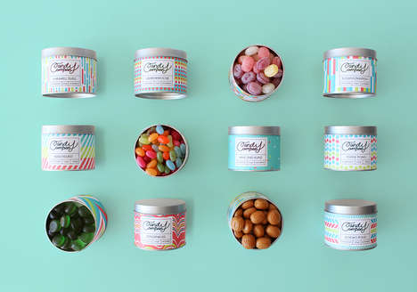 Kaleidoscopic Candy Tins - This Packaging Concept for a Candy Company Uses Vibrant Hues