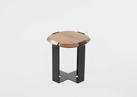 Diamond Ring-Inspired Tables - These Iron and Wood Tables Take Inspiration from Jewelry