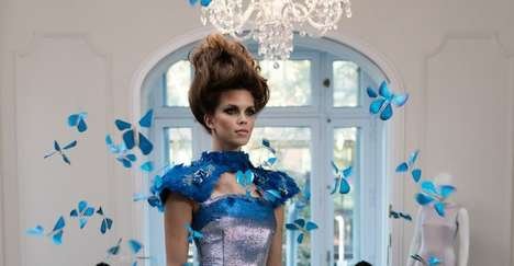 Hi-Tech Fairytale Frocks - The Butterfly Dress is Covered with the Fluttering Insects