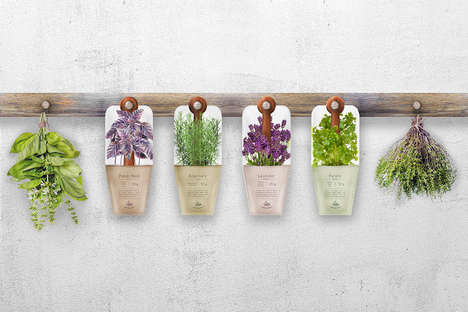 Hanging Spices Packaging - These Spice Pouches Resemble Hanging Potted Plants