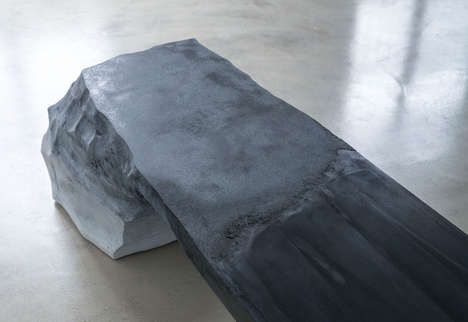 Melting Glacier Benches - The Drift Chair Sculptures Replicate Sedimentary Layers of the Earth