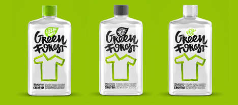 Toxin-Free Detergent Branding - The Green Forest Washing Soap is Made from All-Natural Ingredients