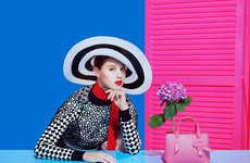 Opulent Headwear Lookbooks - The Latest Paule Ka Campaign Highlights Vintage Hat Accessories
