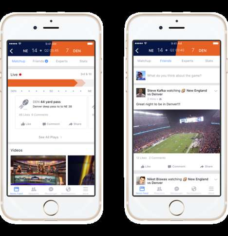 Conversational Sports Platforms - Facebook's Sports Stadium Lets Users Discuss Athletic Games