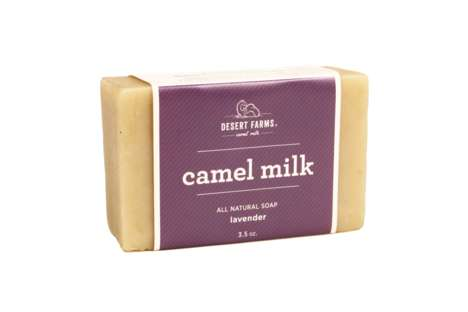 Floral Camel Milk Soaps - This Handmade Lavender Soap Features Natural Animal Milk for Creaminess