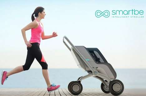 Self-Propelled Strollers - The 'Smartbe' Intelligent Child Stroller Allows for Handsfree Operation