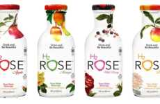 Fruit-Flavored Rose Water - 'H2rOse' is a Line of Rose Water Drinks with Fruit Flavors