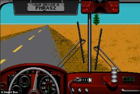 Immersive Bus-Driving Games - The Desert Bus Game Can Now Be Played in Virtual Reality