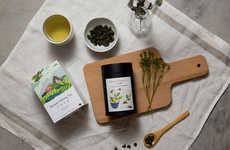 Delicate Landscape-Inspired Teas - The Fongcha Tea Branding Uses Abstractism to Communicate Calm