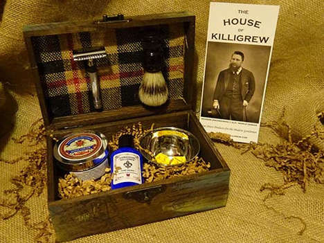 Nostalgic Grooming Kits - This Vintage-Themed Shaving Kit is Designed for Modern Gentlemen
