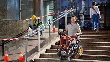 Stair-Climbing Wheelchairs - The TopChair-S Wheelchair Detects and Climbs Stairs With Ease