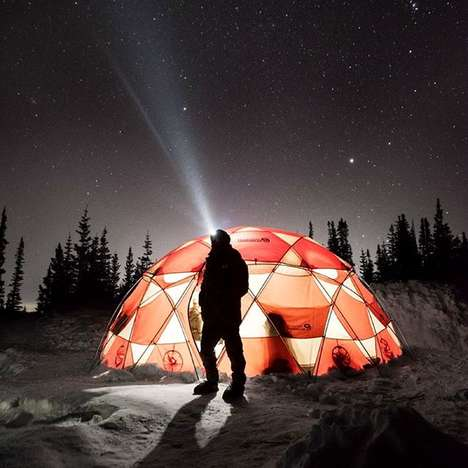 Domed Station Tents - The Mountain Hardwear Mobile Home Sleeps 20 People at Once