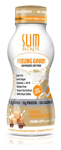 Latte-Inspired Protein Shakes - This Slim Secrets Drink is Branded as a 'Protein Indulgence Shake'