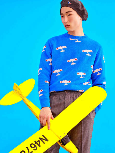 Childlike Streetwear Catalogs - The Latest Maison Kitsune Lookbook Embodies a Kidcore Aesthetic
