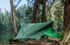 Dual-Use Camping Equipment - The Apex Camping Shelter is Either a Hammock or a Tent to Suit Needs