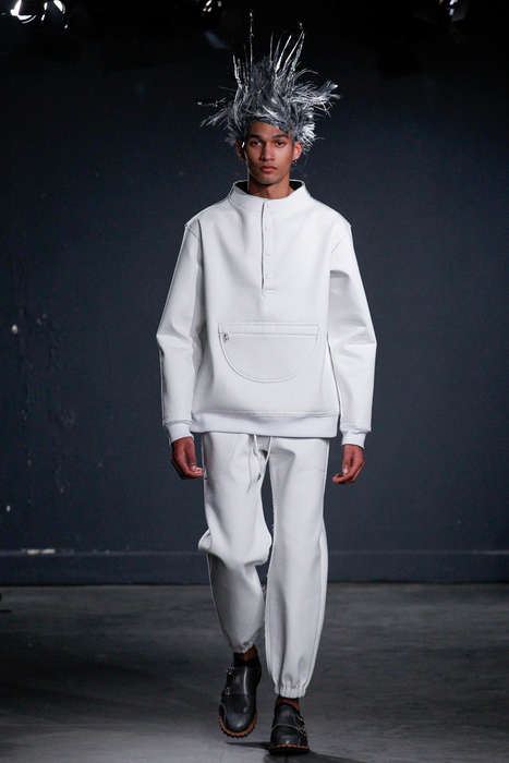 Futuristic Punk Apparel - The Latest Julien David Menswear Collection Pairs Layers with Spiky Hair
