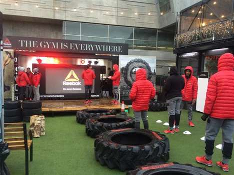 Branded Fitness Park Pop-Ups - This Reebok Pop-Up Brings the Gym Outside in London