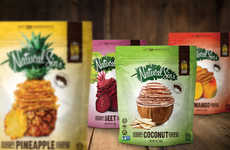 Exotic Fruit Chips - Natural Sins' Snacks are Made with Mangos, Pineapple and Coconut