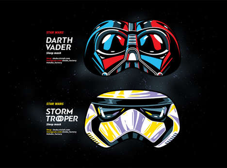 Sci-Fi Sleep Masks - These Face Eye Mask Designs Take Cues from Star Wars Villains