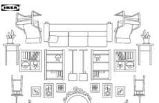 Branded Furniture Coloring Books - The IKEA Coloring Book is Filled with the Brand's Iconic Designs