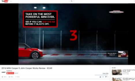 Pre-Roll Race Ads - This Mini Cooper Challenge Turns a Pre-Roll Ad Into a Game