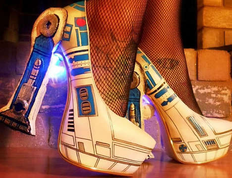 LED Sci-Fi Pumps - These Star Wars Pumps Offer a Dazzling Light-Up Feature