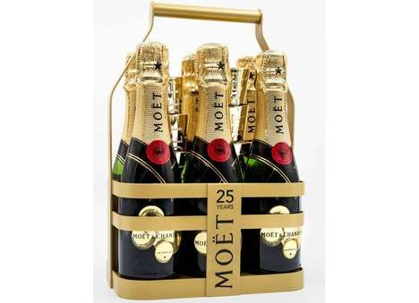 Champagne Six Packs - This New Moët Imperial Packaging Promotes Convenient Luxury