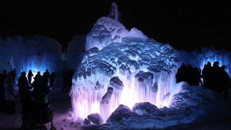 Monumental Ice Castles - The Edmonton Ice Castle Uses Over 100,000 Tonnes of Ice