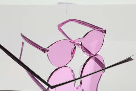 Tinted Lucite Eyewear - ESQAPE's Rose and Violet-Hued Frames Make a Statement in the Sun