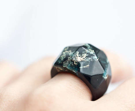 Geometric Resin Rings - These Transparent Jewellery Pieces are Made with Polymer Chemicals