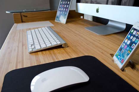Affordable Height-Adjusting Desks - iSkelter's LIFT Smart Bamboo Desk Can be Customized in Size