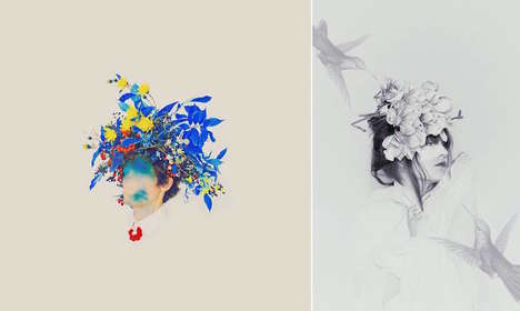 Fleeting Beauty Photography - These Illustrations Express the Short-Lived Development of Mankind