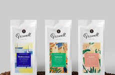 Ethereal Abstract Java Branding - This Spanish Coffee Brand Boasts Delicate Artistic Packaging
