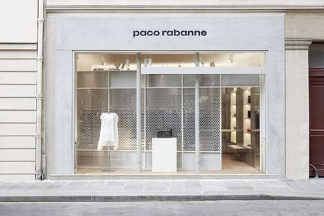 Futuristic Whiteout Boutiques - The New Paco Rabanne Paris Store Boasts a Modular Storage System