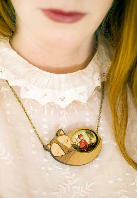 Wooden Fairy Tale Jewelry - Gemma Arnal Jerico Creates Wearable Whimsical Scenes