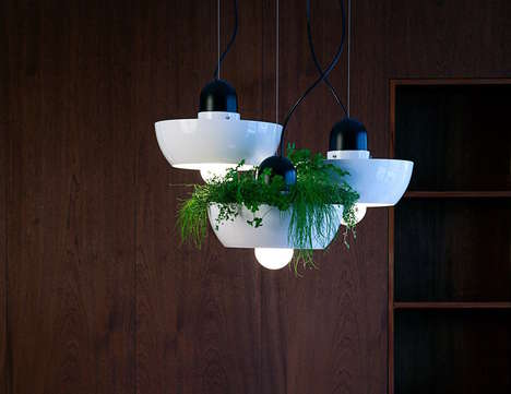 Gardener Lighting Solutions - The Object Interface 'Well Light' Enables Indoor Planting with a Twist