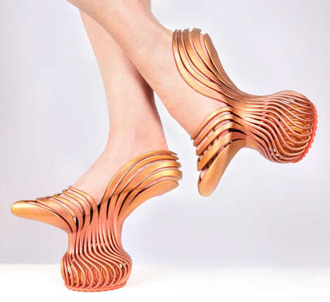 3D-Printed Platform Heels - The Energetic Pass Footwear is Inspired by the Movement of the Foot