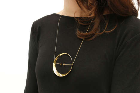 Minimalist Spherical Jewelry - Illusions Jewelry Collection by Constance Guisset Boast Fun Details