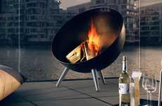 Modern Portable Fireplaces - The 'Fireglobe' Portable Fire Pit Offers a Gorgeously Functional Design