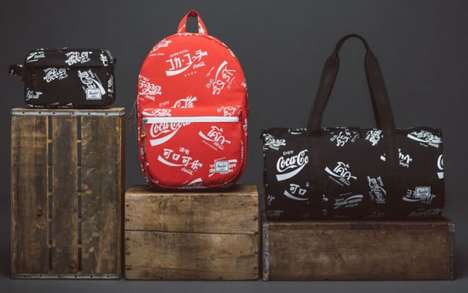 Soda-Inspired Travel Bags - The Herschel Supply Spring Collection is an Ode to Coca-Cola