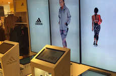 Touchscreen Fashion Displays - At Harrods, Adidas Uses an Interactive Product Browser to Model Goods