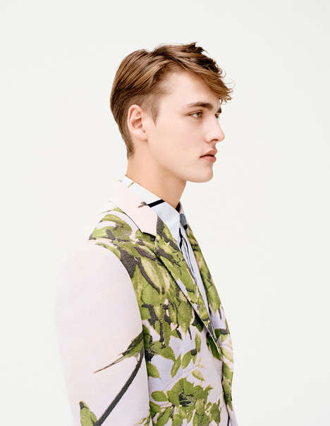 Botanical Menswear Ads - The Latest Issey Miyake Campaign Highlights Floral Fabrics