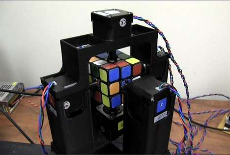 Puzzle-Solving Robots - The Rubik's Cube Robot Can Solve the Iconic Brain Teaser in One Second