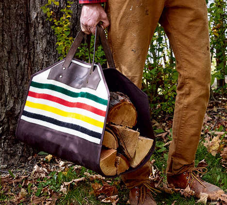 Rustic Log Carriers - Pendleton's Outdoor Accessory is Inspired by Retro Camping Equipment